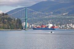 Zbiornika statek w Vancouver, Kanada Zdjęcie Royalty Free