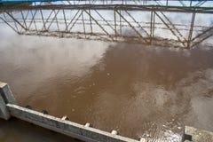 Zbiorniki dla uzdatnianie wody Fotografia Stock