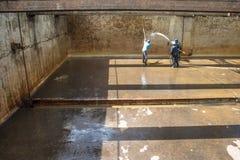 Zbiorniki dla uzdatnianie wody Fotografia Royalty Free