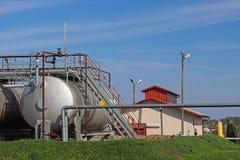 Zbiorniki - elementy nafciana stacja pomp Tansport i dystrybucja olej Technologia nafciany system transportu Stażowy manuał f Fotografia Stock