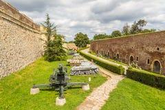 Zbiorniki i działo pistolety w Belgrade fortecy, Kalemegdan park zdjęcia stock