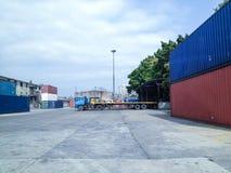 Zbiorniki w dockyard Zdjęcia Royalty Free