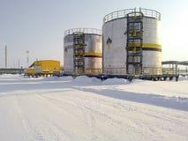 Zbiorniki z olejem posiadali kompani paliwowej Rosneft Obraz Stock
