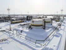 Zbiorniki z olejem posiadali kompani paliwowej Rosneft Fotografia Royalty Free