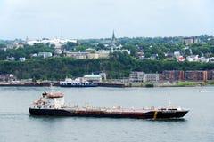 Zbiornikowiec do ropy na St Lawrance Zdjęcia Royalty Free