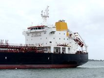 Zbiornikowiec Do Ropy statek w schronieniu Zdjęcie Royalty Free