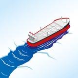 Zbiornikowiec Do Ropy w morzu ilustracja wektor