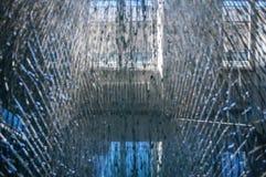 Zbita szyba łamający szkło Obrazy Stock
