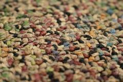 Zbliżenie kolorowy niski palowy dywan obraz royalty free