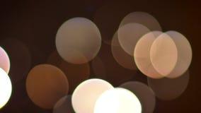 Zbliżenie krótkopęd piękni rozjarzeni nocy światła zdjęcie wideo