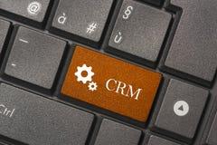 Zbliżenie obrazek CRM guzik nowożytna klawiatura fotografia stock
