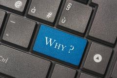 Zbliżenie obrazek Dlaczego guzik klawiatura nowożytny komputer zdjęcie royalty free