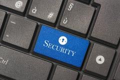 Zbliżenie obrazek ochrona guzik nowożytna klawiatura obraz stock