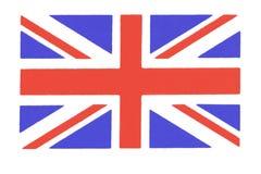 Zbliżenie Union Jack flagi tła czerwony britishflag ilustracja wektor