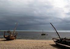 Zbliżać się burzę, Fumba, Zanzibar, Afryka Zdjęcia Stock