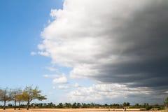 Zbliżać się burza przód Tworzy Dramatycznego niebo Obraz Stock