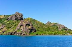 Zbliżać się Waya Lailai wyspę w Fiji Obraz Royalty Free