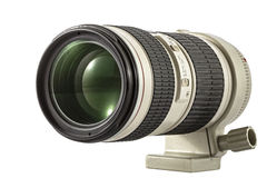 Zbliża kamera obiektyw, odizolowywającego na białym tle Obraz Stock