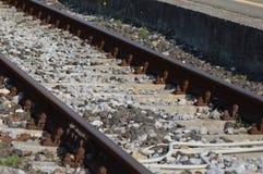 Zbliża na linii kolejowej od France, południe France Obrazy Royalty Free