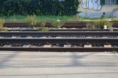 Zbliża na linii kolejowej od France, południe France Zdjęcia Stock