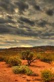 zbliża się do 23 pustynna burza fotografia royalty free