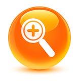 Zbliża wewnątrz ikona szklistego pomarańczowego round guzika Zdjęcie Stock