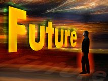 zbliżająca się przyszłość royalty ilustracja