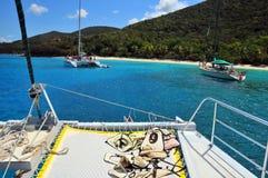 zbliżamy się do wyspy nurkować Fotografia Stock