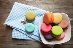 Zbliżeń kolorowi macarons Obrazy Stock