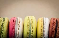 Zbliżeń kolorowi macarons zdjęcie stock