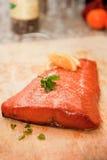 zbliżenia łososia uwędzony stek obrazy royalty free