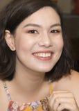 Zbliżenia Amerasian Wspaniała młoda kobieta Obrazy Stock