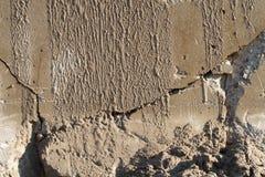 zbliżenia beton pękająca ściana Fotografia Stock