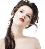 zbliżenia dziewczyny warg ładny czerwony zmysłowy seksowny Obraz Royalty Free