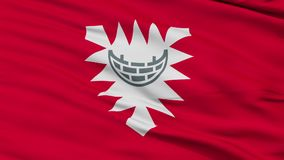 Zbliżenia Kiel miasta flaga, Niemcy royalty ilustracja