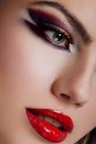 zbliżenia makeup strzał Zdjęcia Stock
