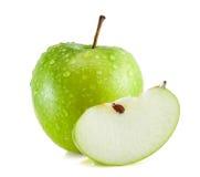 Zbliżenia odosobniony soczysty zielony jabłko Zdjęcia Stock