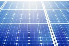 zbliżenia ogniwa słonecznego nicielnicy bateryjna energia słońce, alternativ Obraz Stock