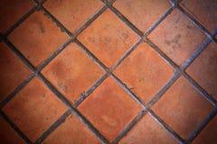 Zbliżenia pomarańczowy gliny płytki bruk Obrazy Royalty Free