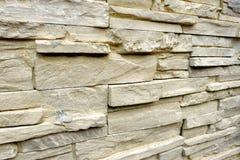 Zbliżenia powlekania skały sztuczna kamienna ściana dla szczegółów fotografia stock