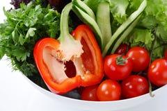 zbliżenia restauracyjny sałatki stołu biel Fotografia Royalty Free