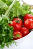 zbliżenia sałatki pomidory Obrazy Stock