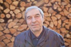 zbliżenia szczęśliwy mężczyzna portreta senior Obrazy Stock