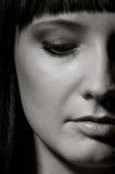 zbliżenia twarzy kobieta seksowna obrazy stock