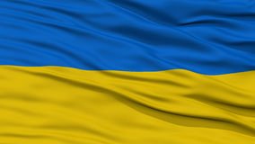 Zbliżenia Ukraina flaga fotografia royalty free