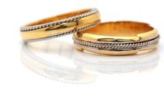 zbliżenia złota pierścionki Obraz Stock