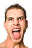 zbliżenia zły twarzy mężczyzna Fotografia Stock