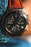 zbliżenia zegarka nadgarstek Zdjęcia Stock