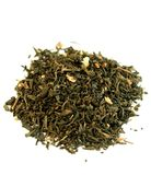 zbliżenia zieleń odizolowywający jasmin opuszczać herbaty Fotografia Royalty Free