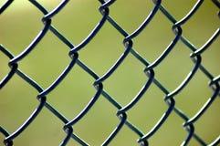 Zbliżenie łączący ogrodzenie przy baseball grze Obraz Royalty Free
